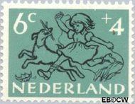 Nederland NL 598  1952 Kind en dier 6+4 cent  Gestempeld