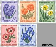 Nederland NL 602#606  1953 Bloemen   cent  Gestempeld