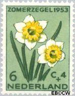 Nederland NL 604  1953 Bloemen 6+4 cent  Postfris