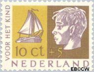 Nederland NL 615  1953 Kinderhoofden 10+5 cent  Gestempeld