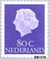 Nederland NL 634  1958 Koningin Juliana- Type 'En Profile' 80 cent  Gestempeld