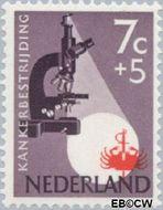 Nederland NL 663  1955 Kankerbestrijding 7+5 cent  Gestempeld