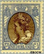 Nederland NL 67  1910 Koningin Wilhelmina- 'Bontkraag' 17½ cent  Gestempeld