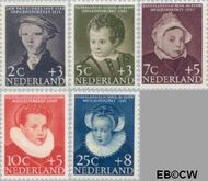 Nederland NL 683#687  1956 Kinderportretten  cent  Gestempeld