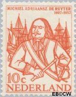 Nederland NL 693  1957 Ruyter, M.A. de 10 cent  Postfris