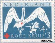 Nederland NL 695  1957 Rode Kruis 4+3 cent  Gestempeld