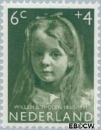 Nederland NL 703  1957 Meisjesportretten 6+4 cent  Gestempeld