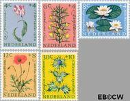 Nederland NL 738#742  1960 Bloemen   cent  Gestempeld