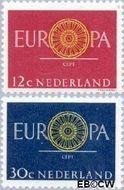 Nederland NL 745#746  1960 C.E.P.T.- Spaakwiel   cent  Postfris