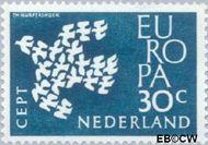 Nederland NL 758  1961 C.E.P.T.- Duiven in vlucht 30 cent  Gestempeld