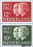 Nederland NL 764#765  1962 Koningin Juliana- Huwelijksjubileum   cent  Gestempeld