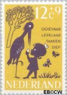 Nederland NL 805  1963 Kinderrijmpjes 12+9 cent  Gestempeld