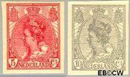 Nederland NL 82#83  1923 Koningin Wilhelmina- 'Bontkraag' ongetand   cent  Postfris