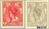 Nederland NL 82#83  1923 Koningin Wilhelmina- 'Bontkraag' ongetand   cent  Gestempeld