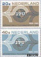 Nederland NL 840#841  1965  I.T.U.   cent  Gestempeld