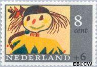 Nederland NL 849  1965 Kindertekeningen 8+6 cent  Gestempeld