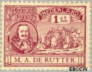 Nederland NL 88  1907 Ruyter, M.A. De 1 cent  Gestempeld