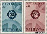 Nederland NL 884#885  1967 C.E.P.T.- Radarwerk  cent  Gestempeld