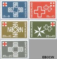 Nederland NL 889#893  1967 Rode Kruis  cent  Gestempeld