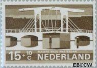 Nederland NL 902  1968 Bruggen 15+10 cent  Gestempeld
