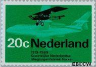 Nederland NL 910  1968 Luchtvaart 20 cent  Gestempeld