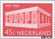 Nederland NL 926  1969 C.E.P.T.- Gebouw 45 cent  Gestempeld