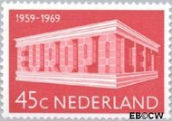 Nederland NL 926  1969 C.E.P.T.- Gebouw 45 cent  Postfris