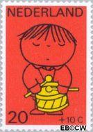 Nederland NL 934  1969 Kind en muziek 20+10 cent  Gestempeld