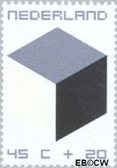 Nederland NL 982  1970 Kubus 45+20 cent  Gestempeld