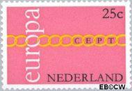 Nederland NL 990  1971 C.E.P.T.- Schakels 25 cent  Gestempeld