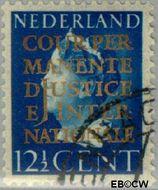 Nederland NL D17  1940 Cour Permanente de Justice 12½ cent  Gestempeld