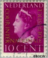 Nederland NL D21  1947 Cour Internationale de Justice 10 cent  Gestempeld