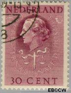 Nederland NL D39  1951 Cour Internationale de Justice 30 cent  Gestempeld