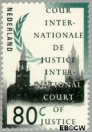 Nederland NL D53  1989 Cour Internationale de Justice 80 cent  Gestempeld