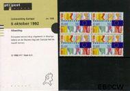 Nederland NL M100  1992 Eenwording Europa  cent  Postfris
