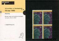 Nederland NL M96  1992 Genootschap Munt- en Penningkunde  cent  Postfris