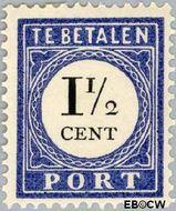 Nederland NL P15  1894 Portzegel 1½ cent  Gestempeld