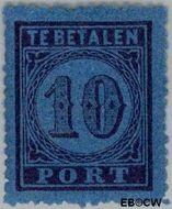 Nederland NL P2  1870 Portzegel 10 cent  Gestempeld