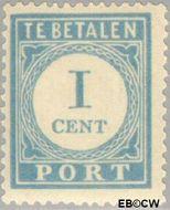 Nederland NL P45  1912 Portzegel 1 cent  Gestempeld