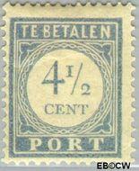 Nederland NL P50  1912 Portzegel 4½ cent  Gestempeld