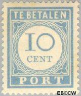 Nederland NL P55  1912 Portzegel 10 cent  Gestempeld