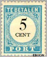 Nederland NL P6  1887 Portzegel 5 cent  Gestempeld