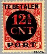 Nederland NL P68  1924 Portzegel 12½ op 5 cent  Gestempeld