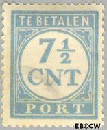 Nederland NL P72  1921 Portzegel 7½ cent  Gestempeld