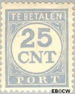 Nederland NL P77  1921 Portzegel 25 cent  Gestempeld