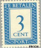 Nederland NL P81  1947 Portzegel 3 cent  Gestempeld