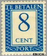 Nederland NL P86  1947 Portzegel 8 cent  Gestempeld
