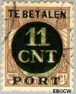 Nederland NL PV1  1923 Interne verrekeningszegel 11 op 22½ cent  Gestempeld