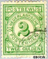 Nederland NL PW3  1884 Gebruik op postbewijsformulieren 200 cent  Gestempeld
