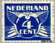 Nederland NL R5  1925 Type 'Lebeau' 4 cent  Gestempeld